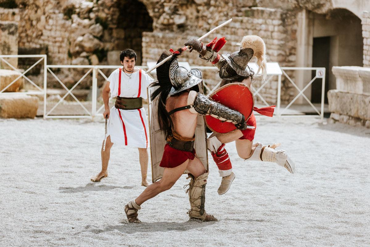 gladiadors tarraco viva amfiteatre romà