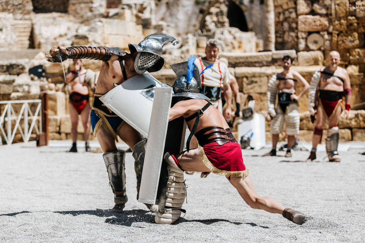 lluita gladiadors amfiteatre roma tarragona